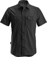 Snickers Workwear LiteWork kurzarm Shirt schwarz