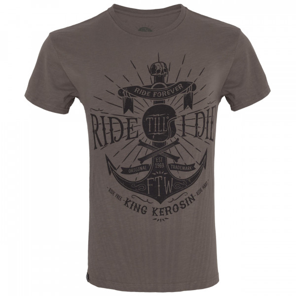 King Kerosin T-Shirt Ride Till I Die Watercolour Olive