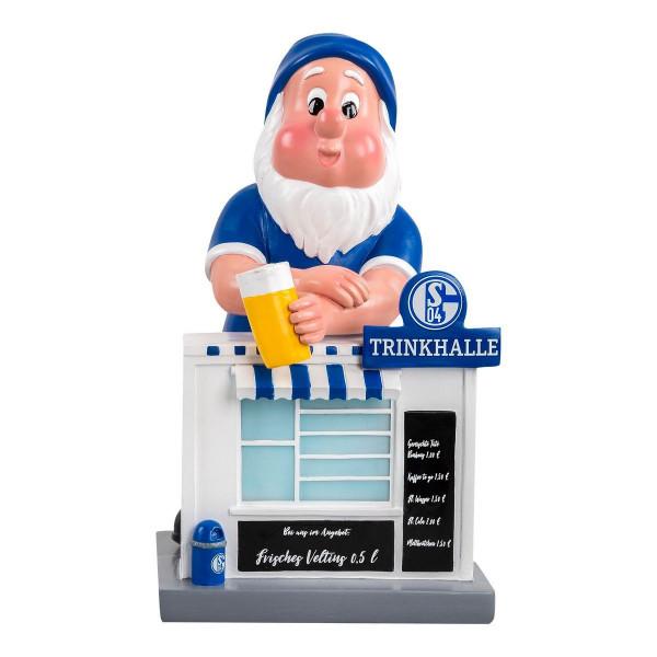 FC Schalke 04 S04 Gartenzwerg Trinkhalle Fussball 1. Bundesliga Blue