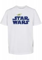 Mister Tee T-Shirt Kids Star Wars Blue Logo Tee white