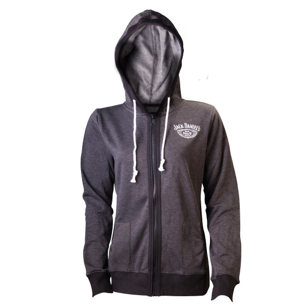 Jack Daniels Female Hoodie Old No. 7 Grey