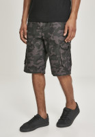 Southpole Shorts Belted Camo Cargo Shorts Ripstop Grey Black
