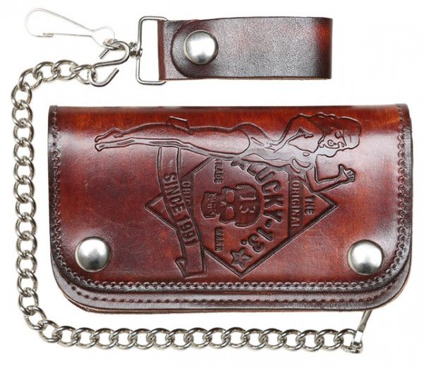 Lucky 13 Wallet Portemonnaie No Riders Brown