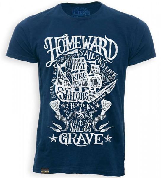 King Kerosin T-Shirt Sailors Grave Vintage Blue