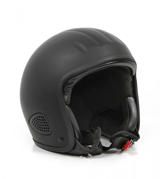 Bores Motorrad Helm Gensler Kult Jethelm mit Textil Innenfutter matt Black