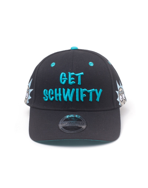 Rick and Morty Cap Get Schwifty Curved Bill Black