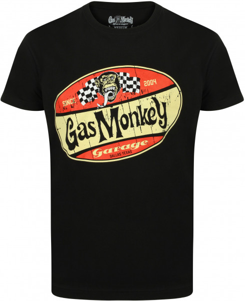 Gas Monkey Garage T-Shirt Red Shield Black