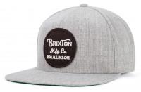 Brixton Cap Wheeler Snapback Heather Grey