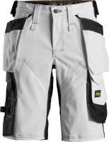 Snickers Workwear Damen AllroundWork Stretch Shorts HP Weiß/Schwarz