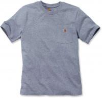 Carhartt Herren T-Shirt Workw Pocket T-Shirt S/S Heather Grey