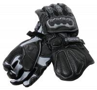 Bores Motorradhandschuhe Devil Leder Handschuhe Black/Grey