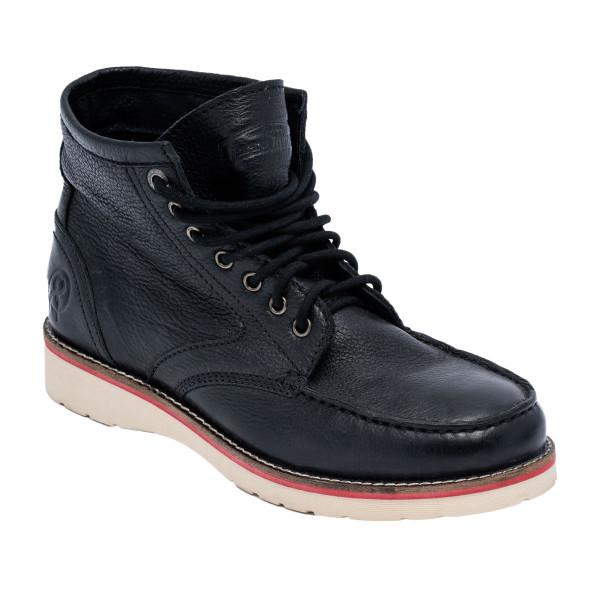 Jesse James Shoe Sturdy Workboot Cognac Black