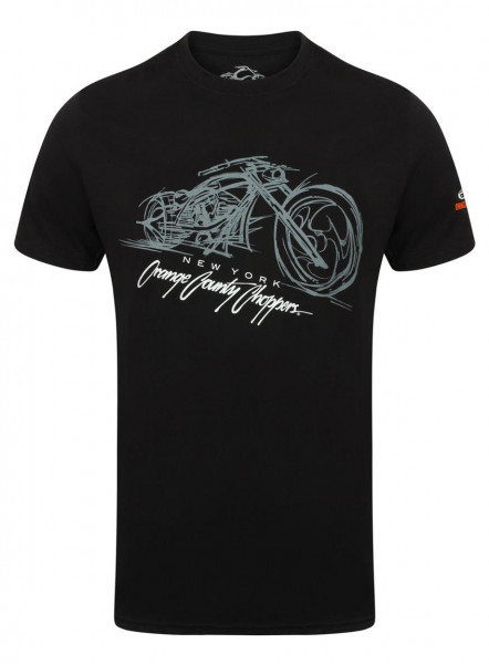 OCC Orange County Choppers T-Shirt Bike Render Black