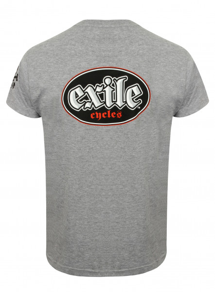 Exile T-Shirt Oval Logo Grey