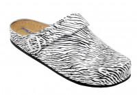 AWC Footwear Berufsschuhe Sandale Zebra mit schwarzer PU Sohle in Zebramuster