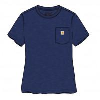 Carhartt Damen Female Shirt Workw Pocket S/S T-Shirt Scout Blue Heather