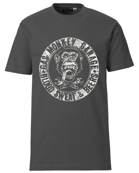 Gas Monkey Garage T-Shirt Blood Sweat and Beers Grey