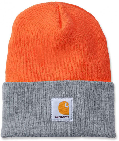 Carhartt Mütze Acrylic Watch Hat Bright Orange/H.Grey