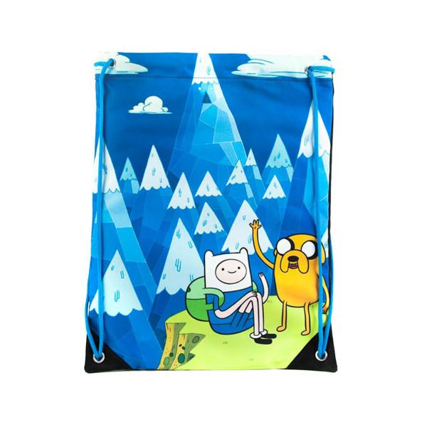 Adventure Time Drawstring Bag Blue Mountain Jake & Finn Blue