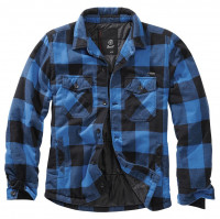 Brandit Jacke Lumberjacket in Black/Blue