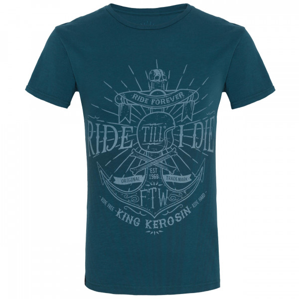 King Kerosin T-Shirt Ride Till I Die Watercolour Blue