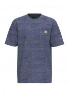 Carhartt T-Shirt K87 Pocket Scout Blue Snow Heather