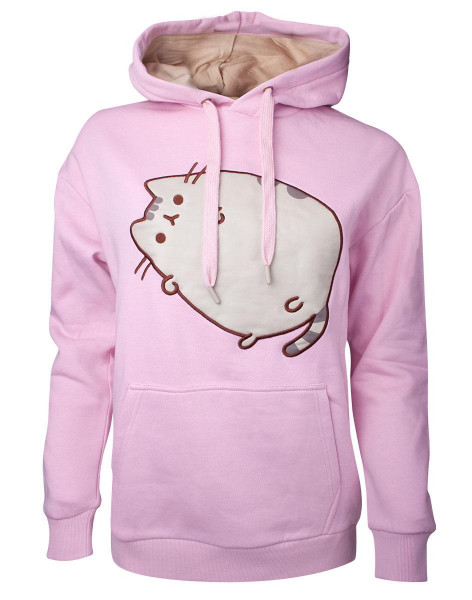 Pusheen - Embroidered Outline Pusheen Women's Hoodie Pink