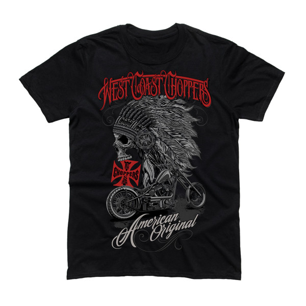 WCC West Coast Choppers T-Shirt Chief Solid Black