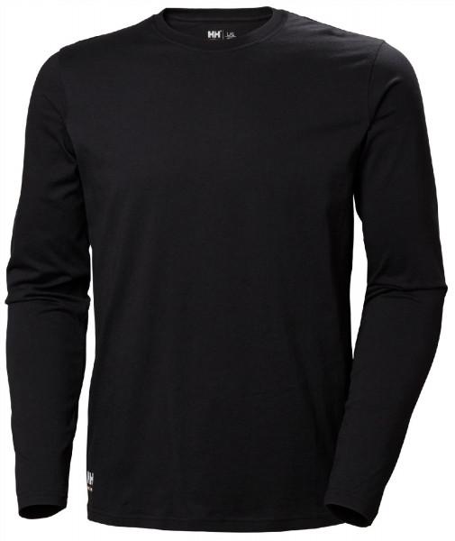 Helly Hansen T-Shirt 79169 Manchester Long Sleeve 990 Black