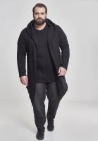 Urban Classics Cardigan/Strickjacke Long Hooded Open Edge Cardigan Black