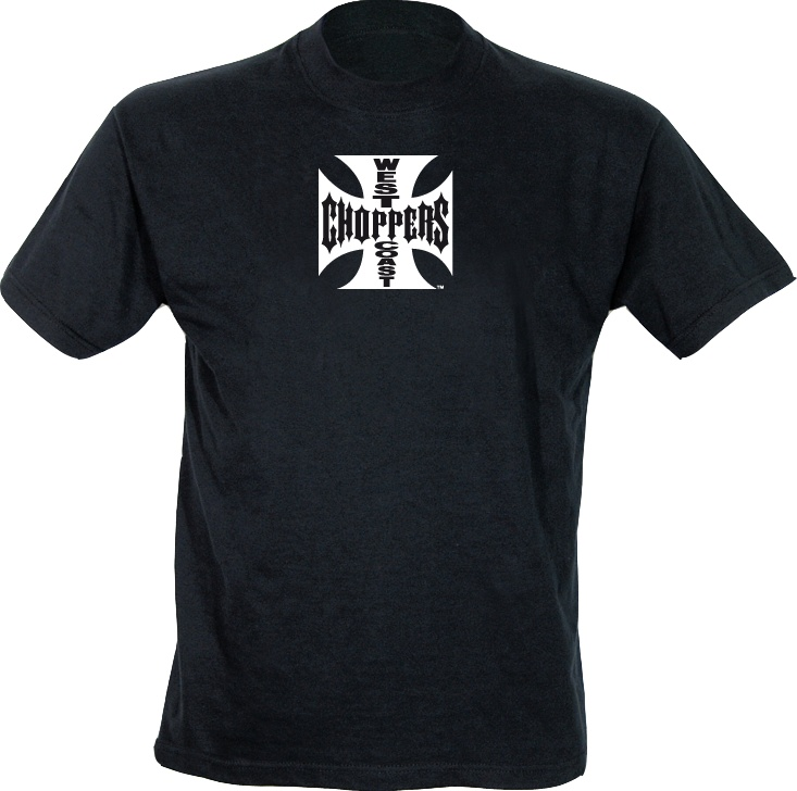 West Coast Chopppers Schwarz WCC OG Cross T-Shirt