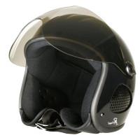 Bores Helm SRM Slight 1 Jethelm mit Visier u. Textil Innenfutter glänzend Black
