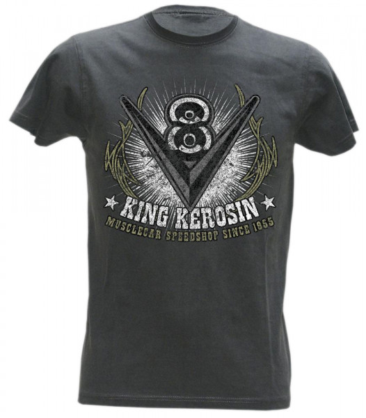 King Kerosin T-Shirt V 8 Vintage Black