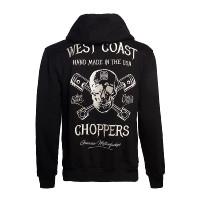 WCC West Coast Choppers Hoodie High-Speed Zip Black