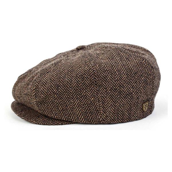 Brixton Cap Brood Brown Khaki Herringbone
