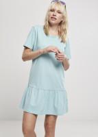 Urban Classics Damen Kleid Ladies Valance Tee Dress Seablue
