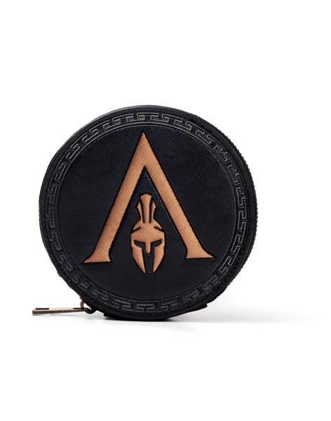 Assassin's Creed Wallets Assassin's Creed Odyssey - Greek Helmet Logo Premium Coin Purse Black