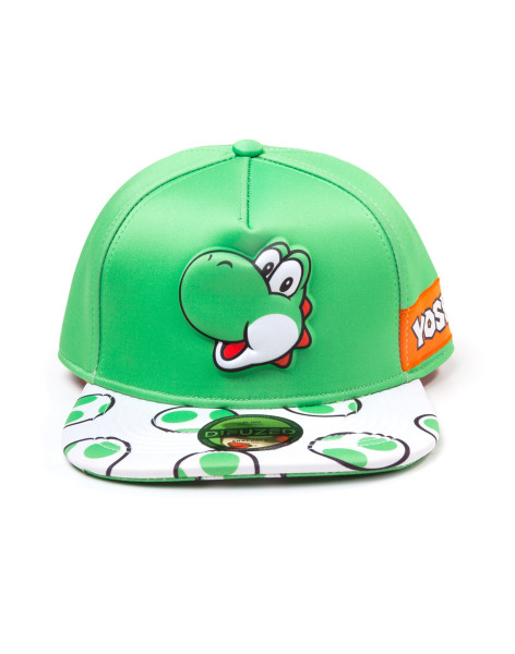 Super Mario Yoshi EVA Molded Screen Print Novelty Snapback Cap Green