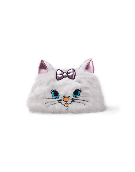 Disney Marie Furry Make-up Bag White