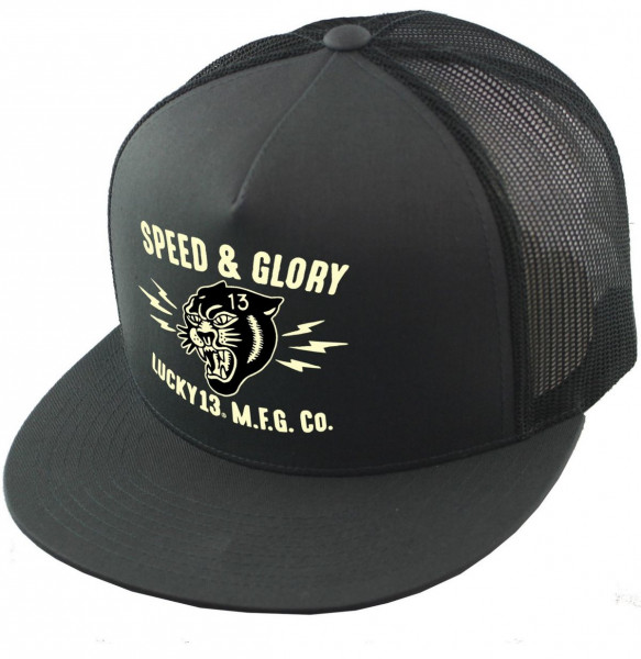 Lucky 13 Cap The Panther Head Charcoal Grey
