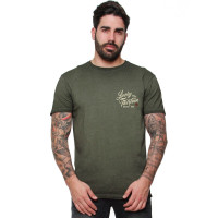 Lucky 13 T-Shirt Vintage Iron Tee Retro Green