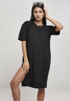 Urban Classics Damen Kleid Ladies Organic Oversized Slit Tee Dress Black