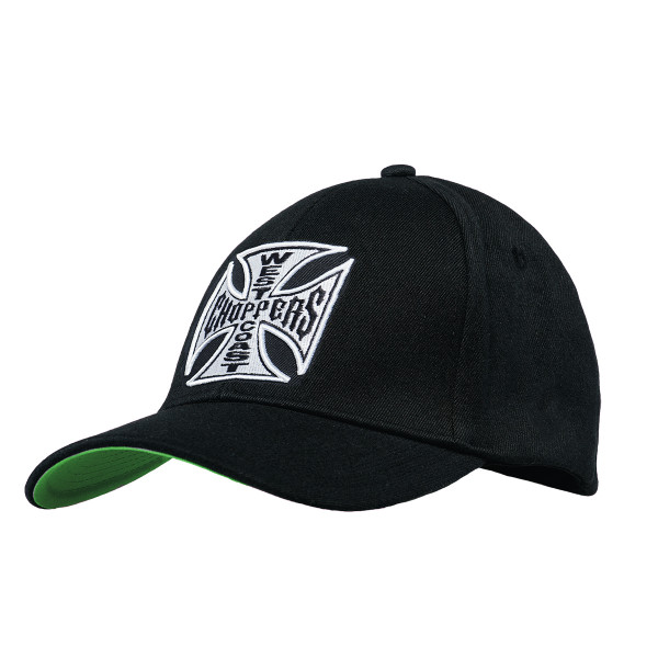 WCC West Coast Choppers Cap Snapback Cross Round Bill Black