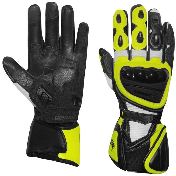 Germot Handschuh Supersport 2 Schwarz/Weiß-Gelb