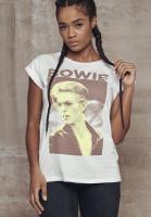 Mister Tee Female Shirt Ladies David Bowie Tee White