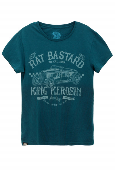 King Kerosin T-Shirt Rat Bastard Watercolour Blue
