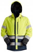 Snickers Workwear ProtecWork Hi-Vis wasserd. GORE-TEX Arbeitsjacke, Kl. 3 Hi-Vis Gelb/Navy
