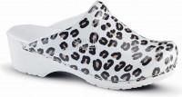 Sanita Clogs Damen Sandalen Leopard White