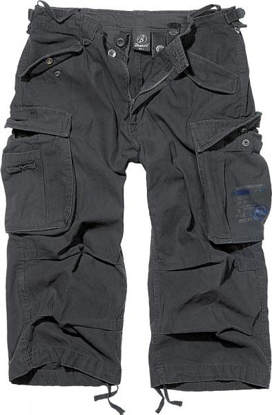 Brandit Shorts Industry Vintage 3/4 in Black