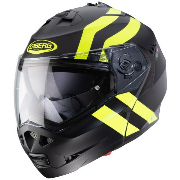 Caberg Motorrad Klapphelm Duke II Superlegend Matt Schwarz/Fluo-Gelb